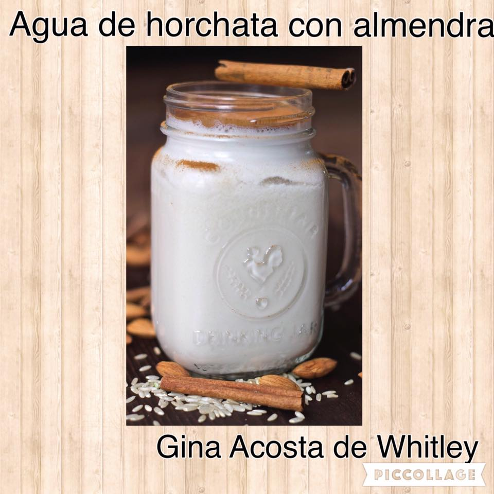 Agua de Horchata conAlmendra