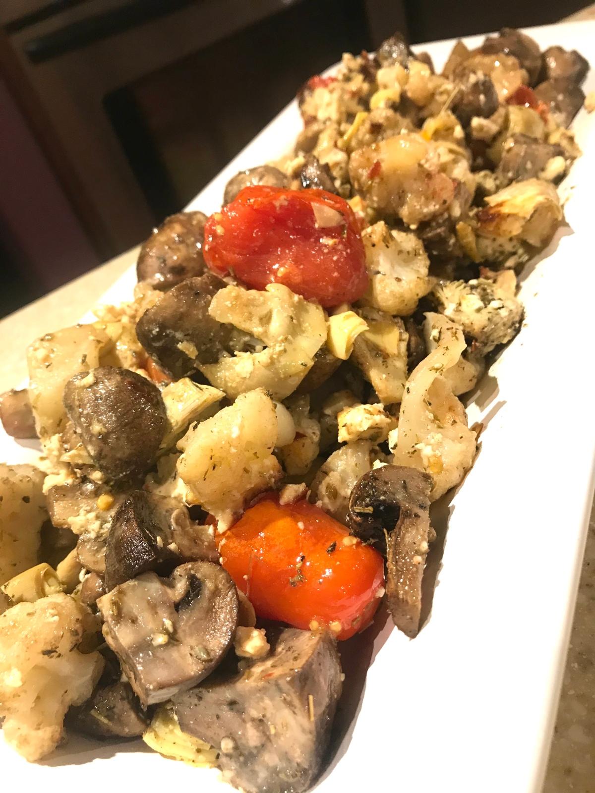 Verduras Mediterráneas para la cena denavidad