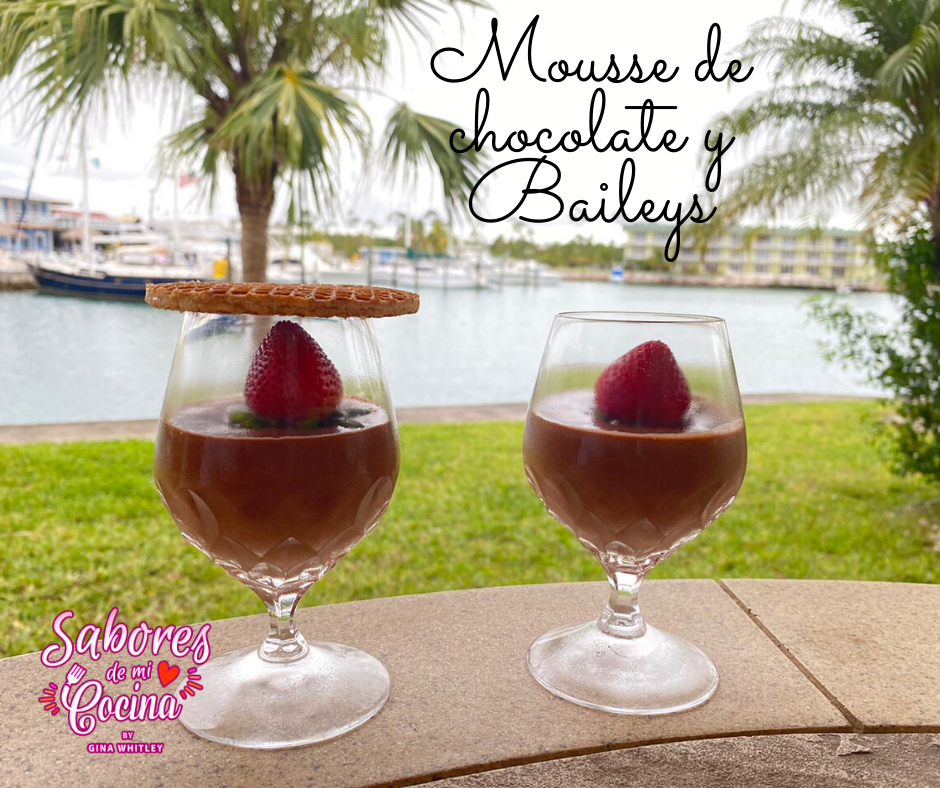 Mousse de chocolate y Baileys